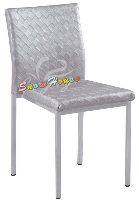 ╭☆雪之屋居家生活館☆╯AA862-07/08/09 烤銀腳菱格紋雅柏餐椅/ 造型椅