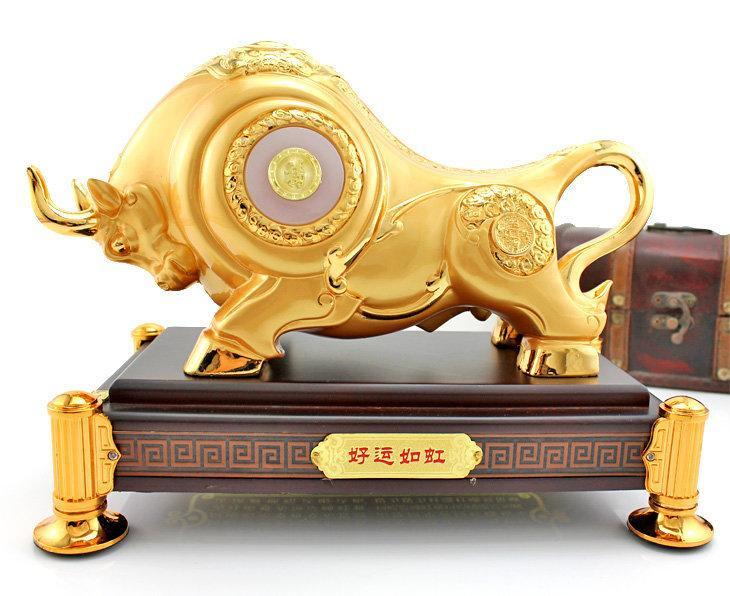 開光牛風水牛擺件工藝品大號牛擺件開業禮品 金屬牛辦公室裝飾品