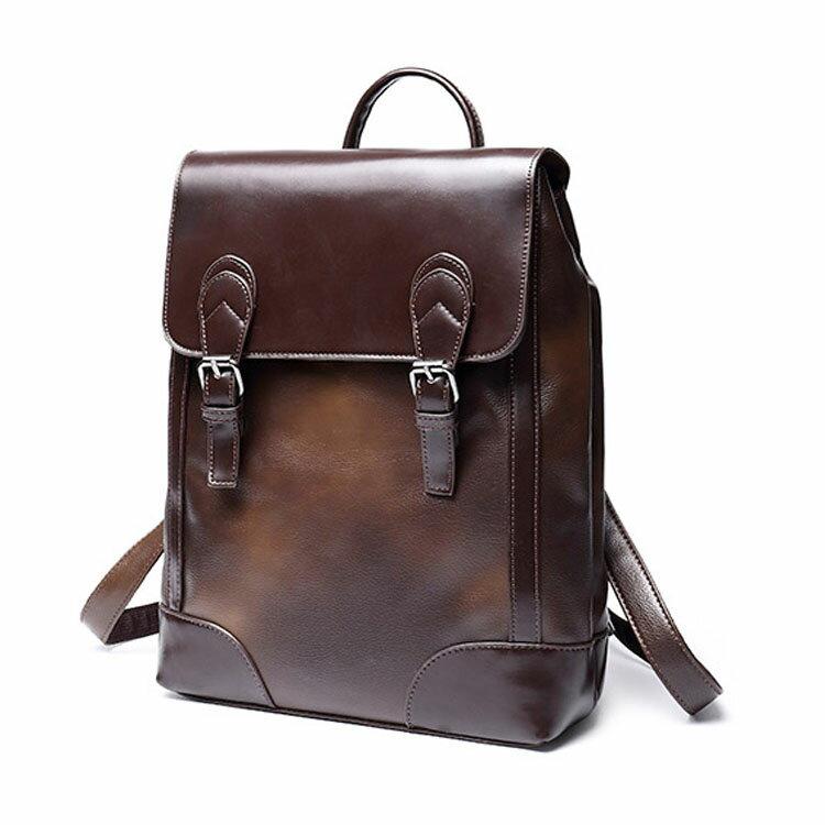 【5折超值價】情人節禮物經典復古風格造型商務休閒百搭後背包