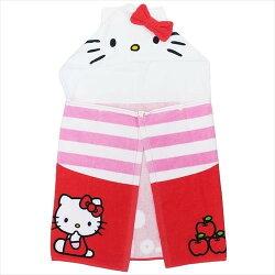 Hello Kitty 扣式 浴巾 付 帽子 毛巾 海灘巾 泳巾 KT 凱蒂貓 三麗鷗 日貨 正版 授權 J00030196