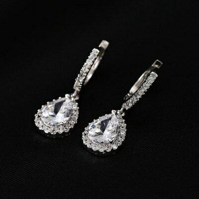 ~925純銀耳環鑲鑽耳飾~高貴華麗艷麗動人生日情人節 女飾品4色73hz10~ ~~米蘭