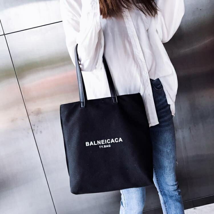 女包  新款韓版  文藝帆布包chic簡約百搭布袋手提包單肩大包
