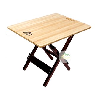 【露營趣】中和 GO SPORT 98002 竹板邊桌 休閒桌 摺疊桌 蛋捲桌 茶几 邊几