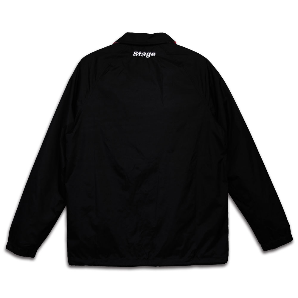 STAGE CREW COACH JACKET 黑色 / 紅色 5