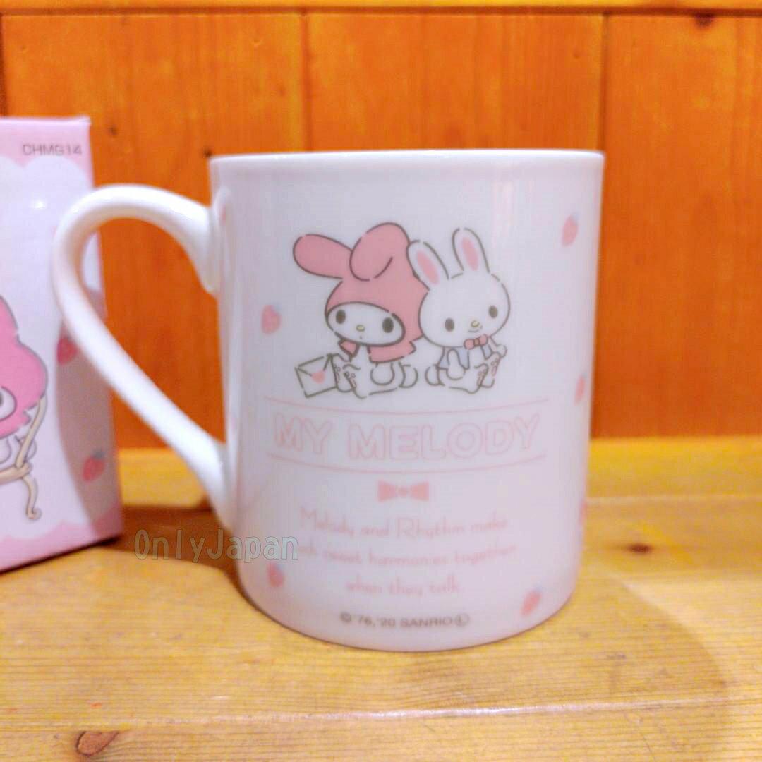 陶瓷馬克杯 美樂蒂melody 朋友冰淇淋 馬克杯 杯子 杯 陶瓷杯 水杯 食器 茶杯 果汁杯 咖啡杯 真愛日本