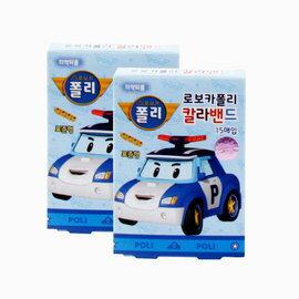 韓國正品Poli 波利卡通防水創口貼 可愛OK繃造型便利貼紙 15片混合裝 韓國製造