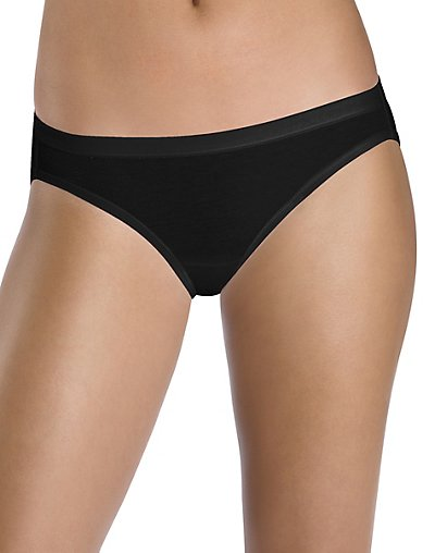 35c6c4b32339 Hanes Women's Cotton Stretch Bikini with ComfortSoft Waistband 3-Pack 0