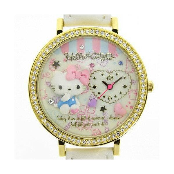X射線【C776076】HelloKitty 手錶(白),時鐘/掛鐘/壁鐘/座鐘/鬧鐘/鐘錶/手錶/潛水錶