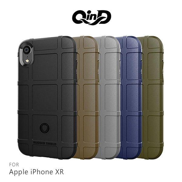 【愛瘋潮】99免運 QinD  Apple iPhone XR  戰術護盾保護套 邊緣全包 減震抗摔