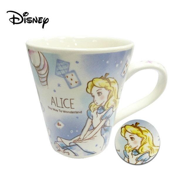 【日本正版】愛麗絲 陶瓷 馬克杯 250ml 咖啡杯 夢遊仙境 Alice 迪士尼 Disney - 483575
