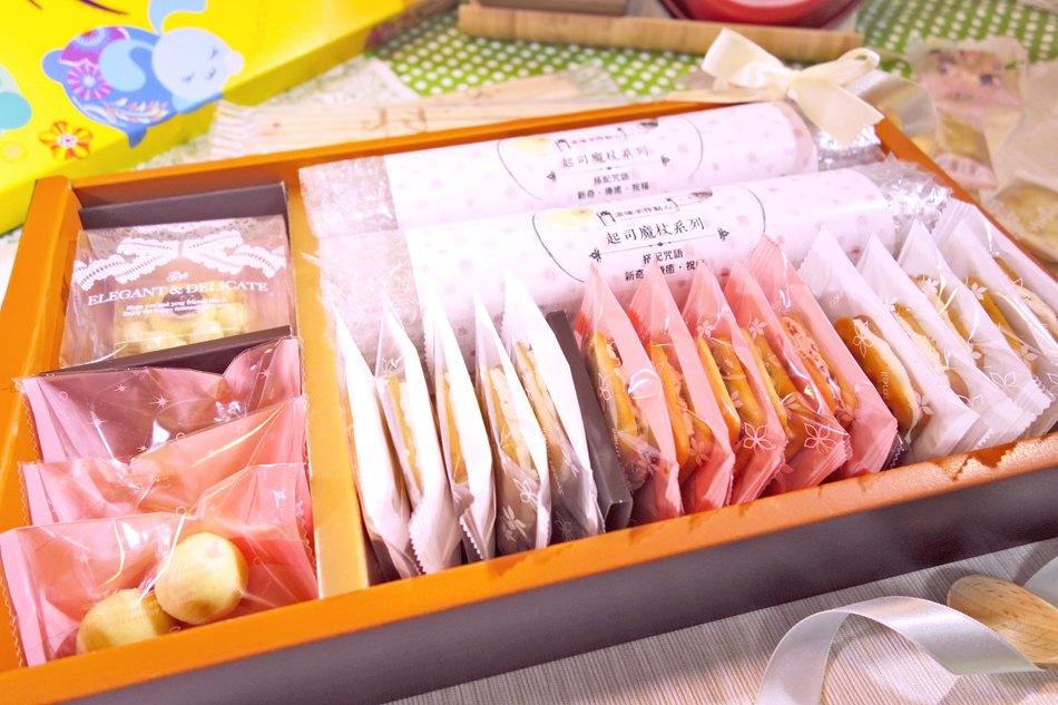 店長推薦禮盒 | 魔杖6包(起司)+雪綿堡4顆(草苺)+鳳梨山1顆(草苺)+鳳梨球3包(原味)+酥軋餅5片(莓莓)。花團錦簇〈丞馥。sunnysasa〉 5