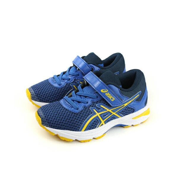 亞瑟士 ASICS GT-1000 6 PS  慢跑鞋 運動鞋 深藍色 中童 C741N-4504 no286 0