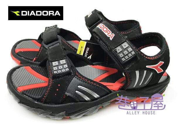 ~巷子屋~義大利國寶鞋~DIADORA迪亞多納 男款三大機能超耐磨 涼鞋  9610  黑