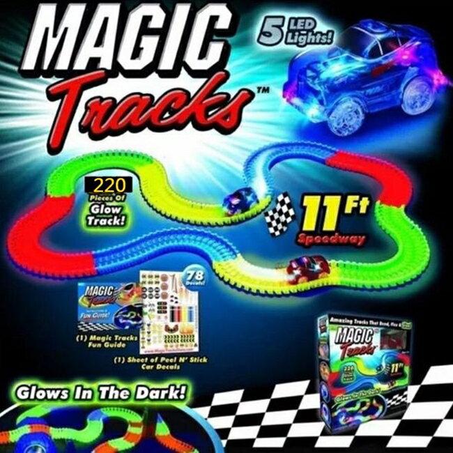 3LED 220片 豪華組 螢光軌道車 發光軌道車 軌道車 Magic Tracks LED軌道車【塔克】