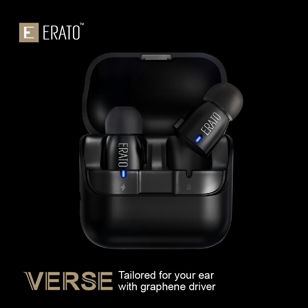 ERATO Verse Wireless Bluetooth Earbuds - Black (AEVE00BK) with Portable Charging Case 3