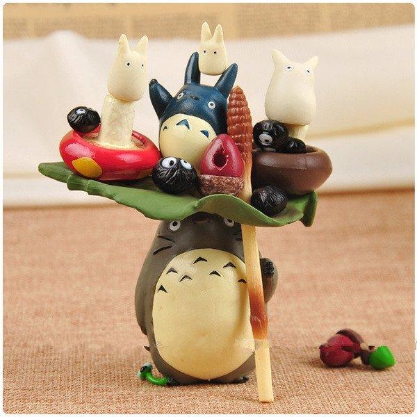 =優生活=【特價388元】宮崎駿 豆豆龍 Totoro龍貓 疊疊樂 層層疊 微景觀 生態瓶 裝飾公仔盒裝擺件 17件組