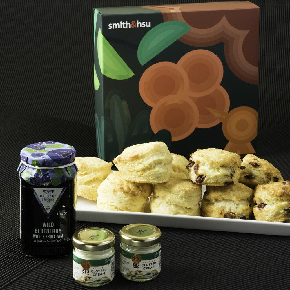 【smith&hsu】九Scone司康 藍莓果醬禮盒組 | 原味 / 蔓越莓 ( 9入/盒 )