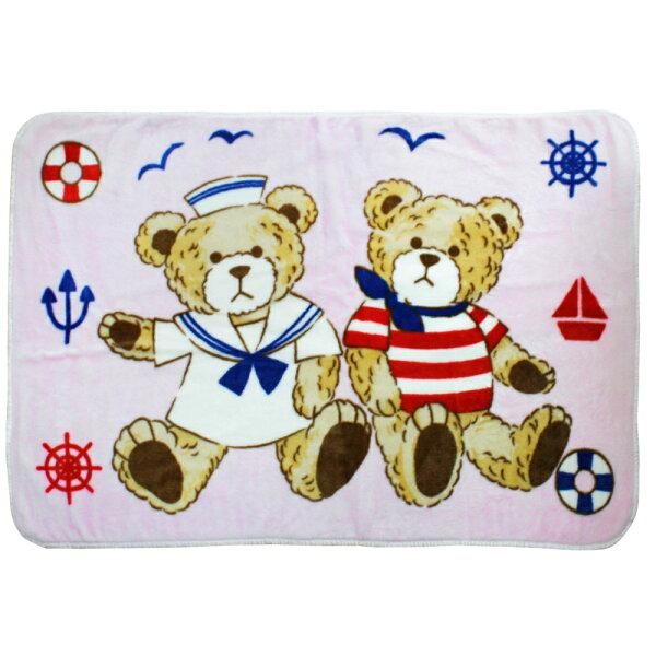 【麗嬰房】Tokyo西川水手熊童毯-粉