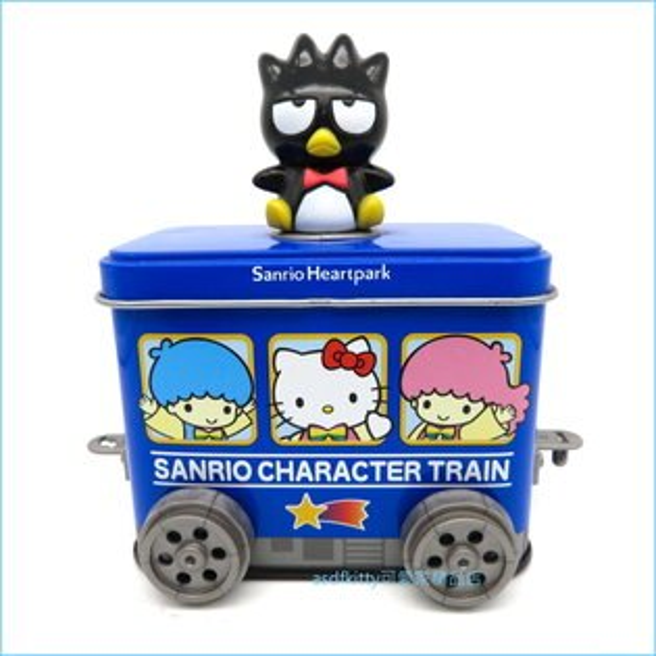 asdfkitty可愛家☆展示品出清-酷企鵝可連結車車造型鐵製收納盒-不含內容食品-日本製