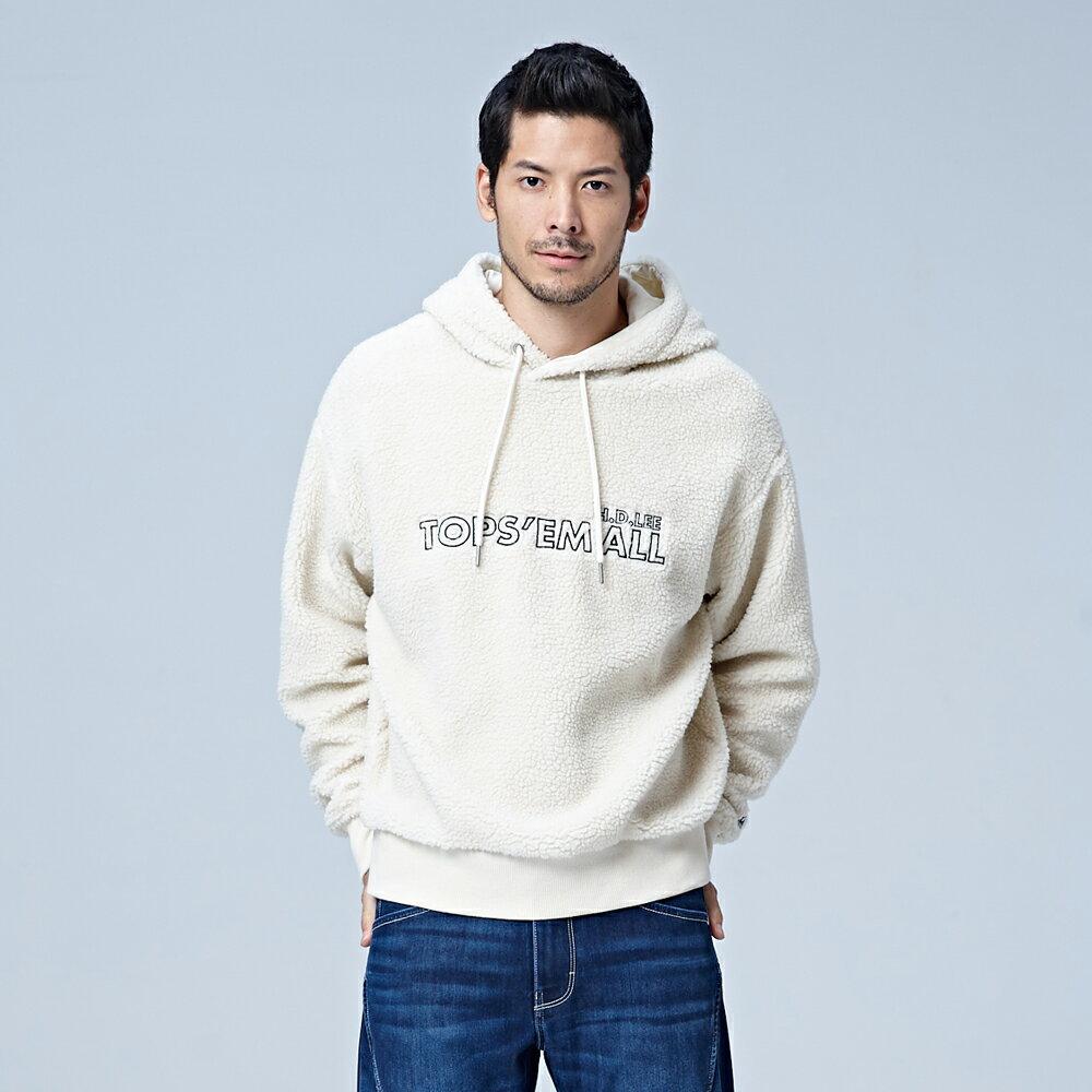 【領券滿1,200再折120】Lee 毛尼長袖連帽厚T恤 RG