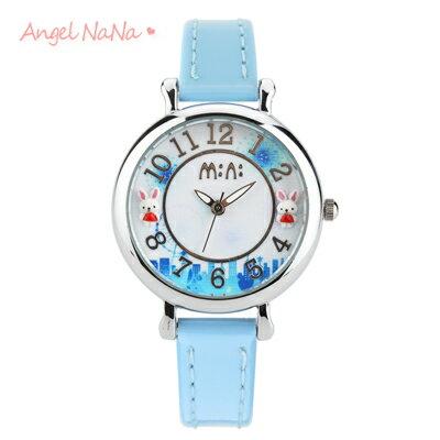 兒童手錶畢業禮物-韓國正品【WA0110】 童話立體粉雕手工軟陶錶-夢幻城市