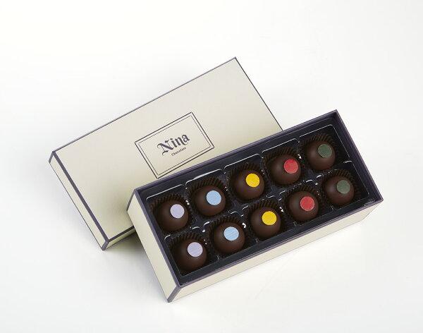 Nina巧克力工坊:香醇酒心禮盒-10入