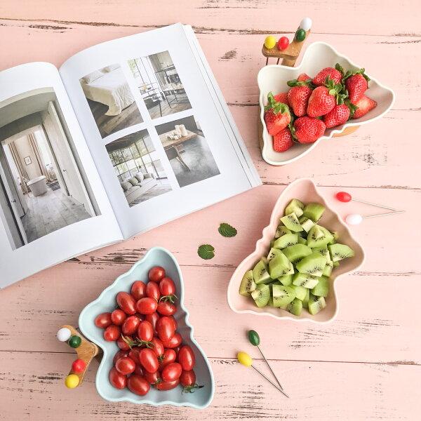 Alice餐廚好物: 現貨 時尚蝴蝶單碗雙碗果乾果盤組 2款3色 年節必備 綜合水果 糖果盤 