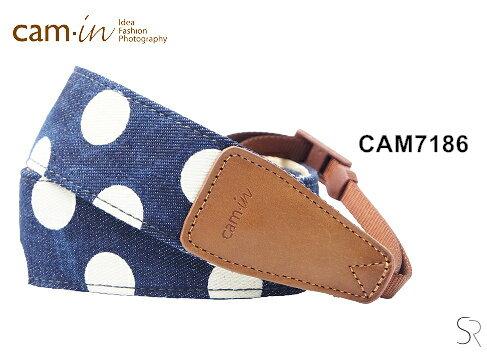 Canon Mall:【Cam.in】潮流相機背帶牛仔系列背帶型號:CAM7186藍色白點牛仔系列
