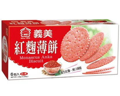 義美紅麴養生薄餅120g*單盒【合迷雅好物商城】