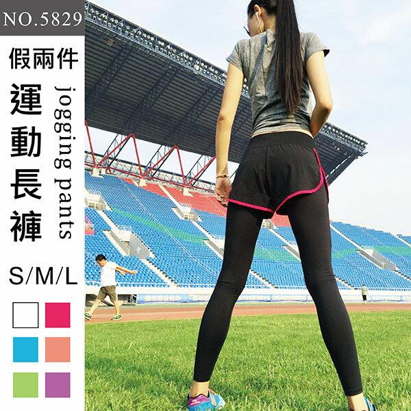 假兩件 褲~波波小百合~不起毛球  超彈力  涼爽舒適  不變形 長褲 NO.5829