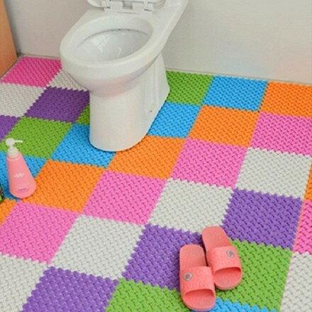 【防滑地墊】DIY腳丫自由拼接隔水按摩地墊 浴室防滑地墊 巧拼防滑墊 腳踏墊 2款6色可選