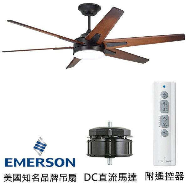 [topfan]EmersonRahEco60英吋DC直流馬達吊扇吊扇附LED燈(CF915W60ORB)油銅色(適用於110V電壓)