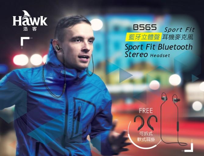 【迪特軍3C】逸盛科技 HAWK B565 Sport Fit 藍牙立體聲耳機麥克風 藍牙CSR