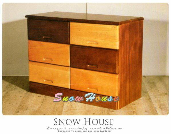 ╭☆雪之屋居家 館☆╯AA566-04 麥田捕手六抽實木收納櫃 置物櫃 床頭櫃 電話櫃 電視櫃 展示櫃 斗櫃