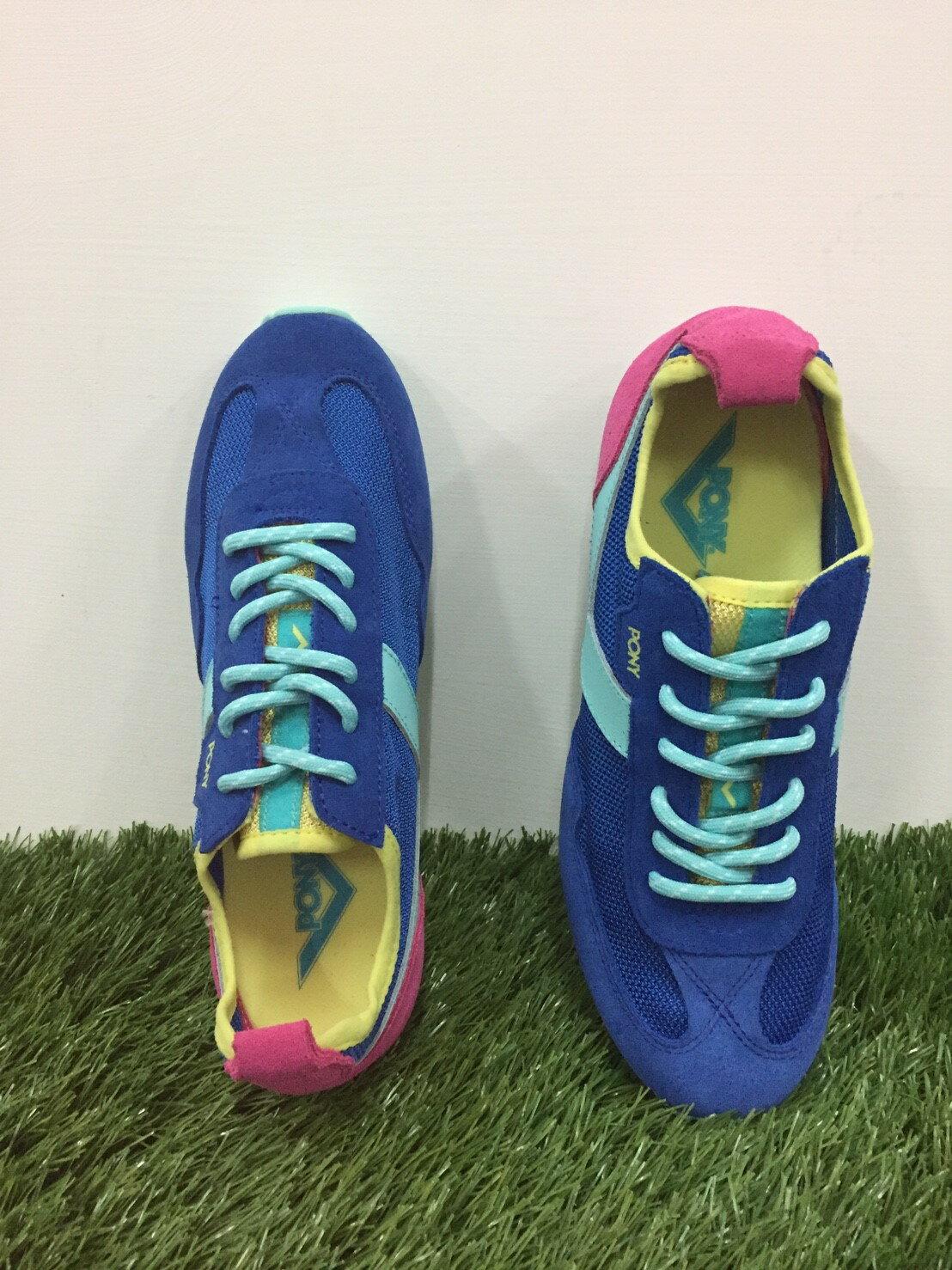★限時特價990元★ Shoestw【53W1MY63BL】PONY 復古慢跑鞋 寶藍水藍粉色 女生 1