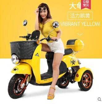 電動車 電動車三輪車 成人男女性電瓶車小型老年人接送孩子代步車 48V  MKS 宜品