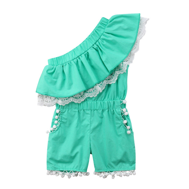 db1c3460886 Kids Baby Girls Off shoulder Lace Romper Jumpsuits Palysuit Outfits Clothes  0