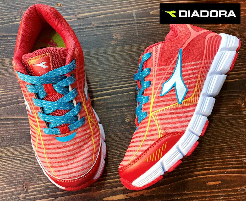 【剪標品出清-22.5號】義大利國寶鞋-DIADORA迪亞多納 女款/大童輕量運動慢跑鞋