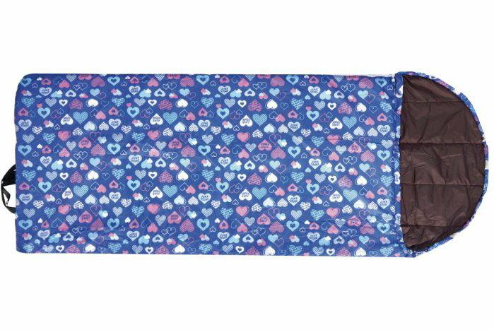 【H.Y SPORT】意都美 Litume C1066 寶藍印花 兒童印花睡袋/登山露營必備睡袋/幼稚園睡袋