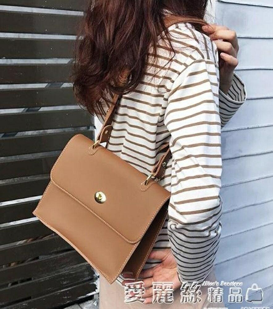 側背包包包新款韓版簡約側背大包復古休閒百搭子母包女潮 年貨節預購