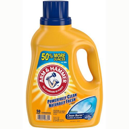 美國A&H 小蘇打粉洗衣精 潔淨清新味 2.21L