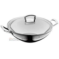 WMF WOK 雙耳不鏽鋼中華炒鍋 36cm (含玻璃鍋蓋)