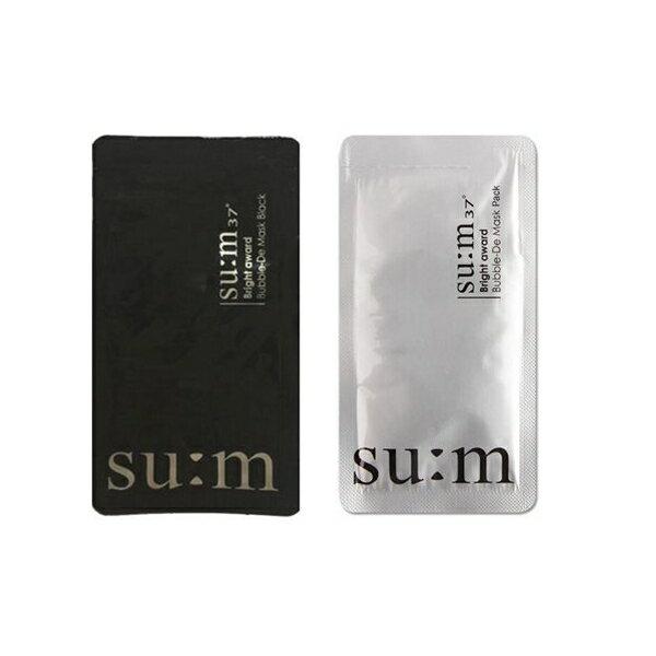 韓國 su:m 37 呼吸泡沫面膜(3ml)黑色/三合一氧氣泡泡面膜(4.5ml)白色 款式可選【小三美日】◢D102819