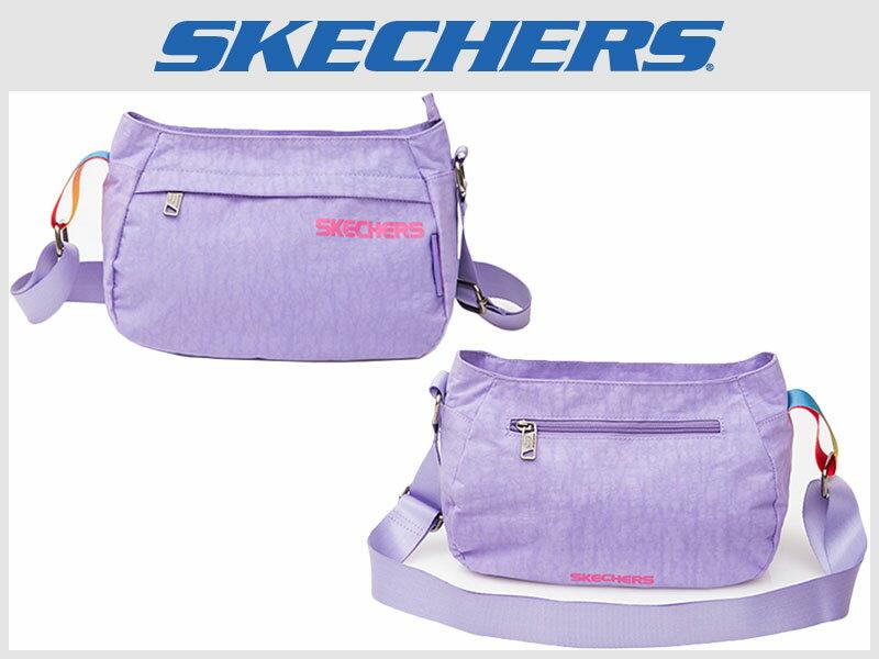 Shoestw【S04870】SKECHERS 側背包 輕量 薰衣草淺紫 多拉鍊層 多功能包 小側背包 0