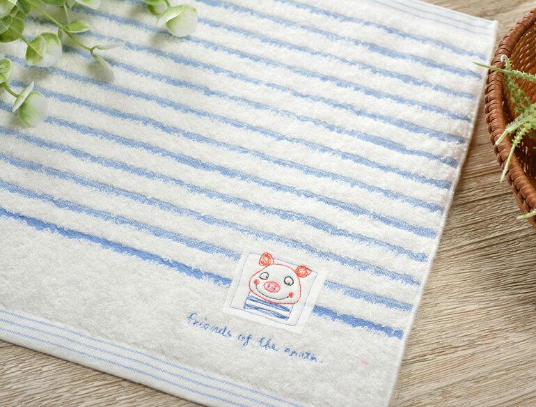 日本今治 - KONTEX - Mag小毛巾(小豬)《日本設計製造》《全館免運費》,純棉100%,觸感細緻質地柔軟,吸水性強,日本設計製造,天然水洗滌工法,不使用螢光染料,不添加染劑