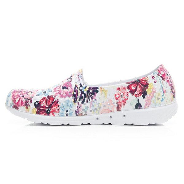 《2019新款》Shoestw【92K1SA08PK】PONY TROPIC 水鞋 童鞋 中大童鞋 軟Q 防水 洞洞鞋 五彩花卉白 親子鞋 2