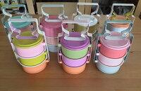 野餐盒不可缺單品【This-This】泰國 馬卡龍色系琺瑯傳統便當/野餐盒 - 共8款