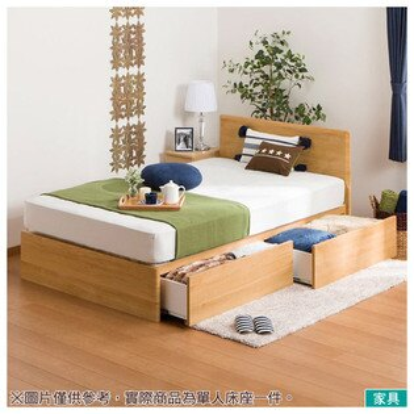 ◎雙人床座床架MELLISSA3LBR附抽屜NITORI宜得利家居