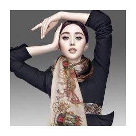 WallFree窩自在~ 印花超大純棉復古圍巾絲巾披肩
