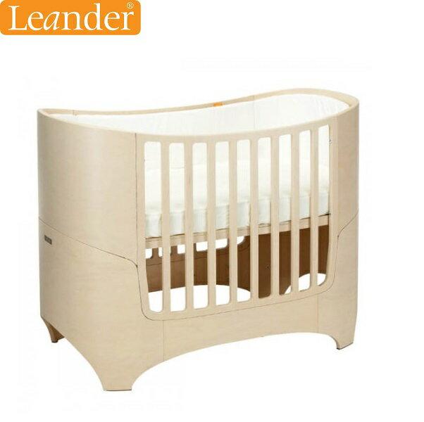 【本月獨送床包+包巾+雙奶嘴組(市值$4340)】丹麥【Leander】現代經典成長型嬰兒床(3色)